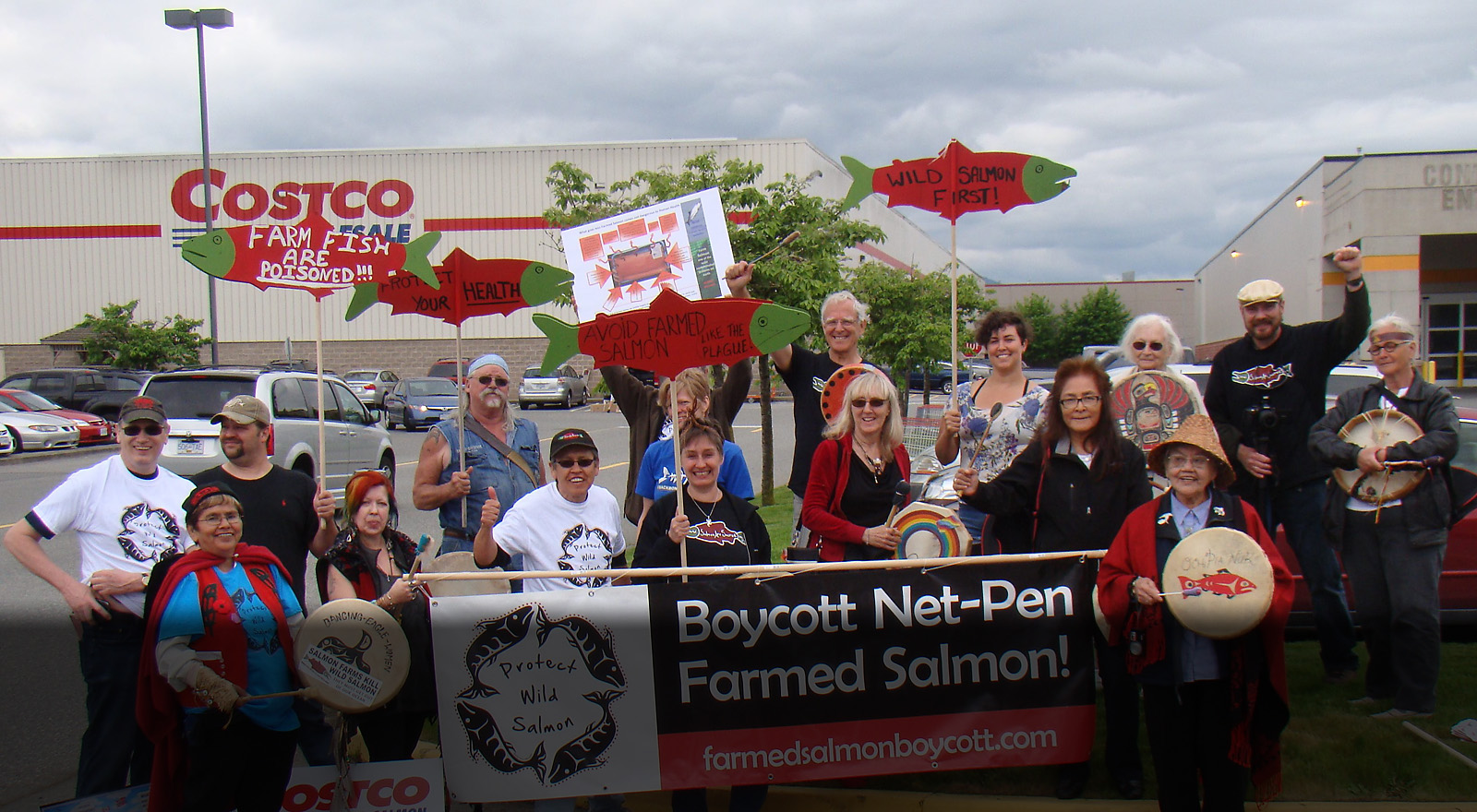 farmed salmon boycott at costoc